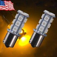 Amber Yellow 1156 BA15S 18SMD 5050 LED Light bulb Turn Signal Backup Reverse Light,A pair