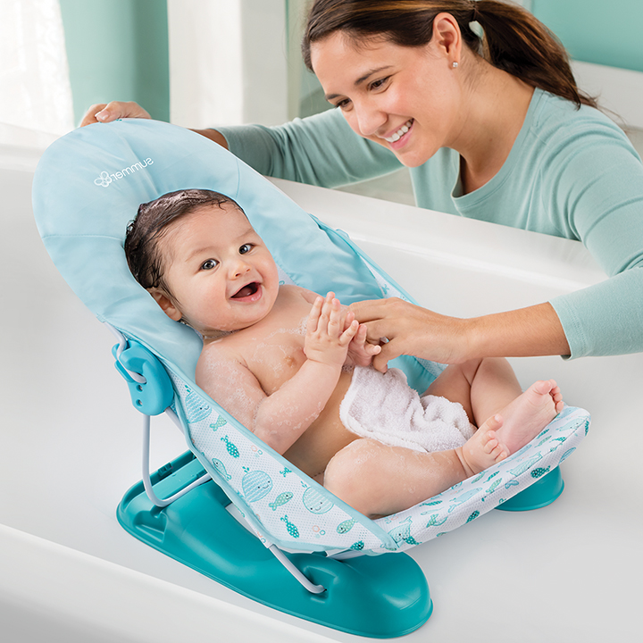 Summer Infant XL Deluxe Bather, Blue Whale