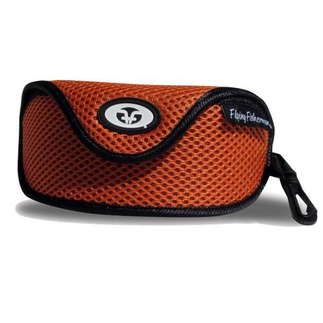 Sunglass Case W Clip, Orange Mesh