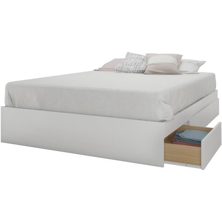 Nexera Aura 3 Drawer Full Size Storage Bed, White