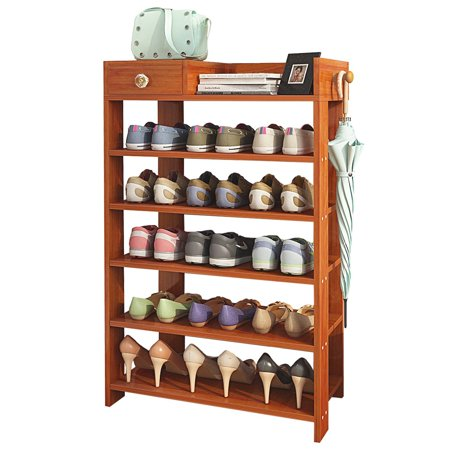 Tremendous Dl Furniture Espresso Finish Solid Wood Storage Shoe 6 Shelves Storage Rack Uwap Interior Chair Design Uwaporg