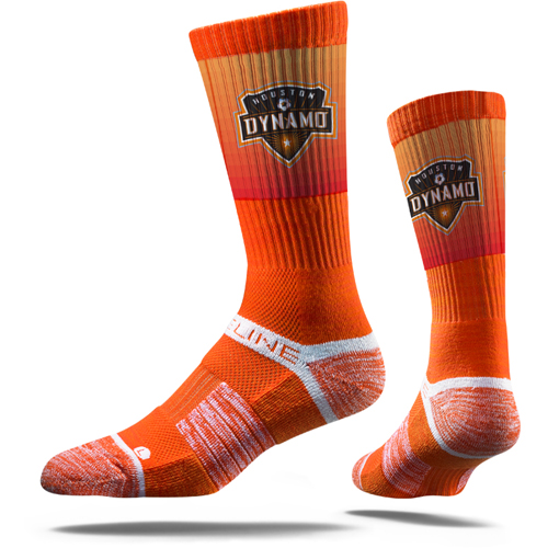 Houston Dynamo Premium Crew Socks - Orange - M/L