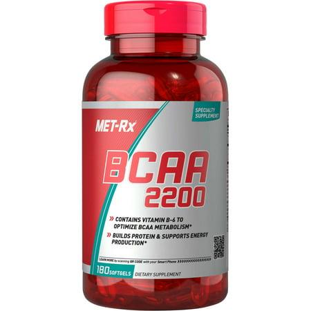 MET-Rx BCAA 2200 Capsules, 180 Ct Bcaa 500 Mg 120 Capsules