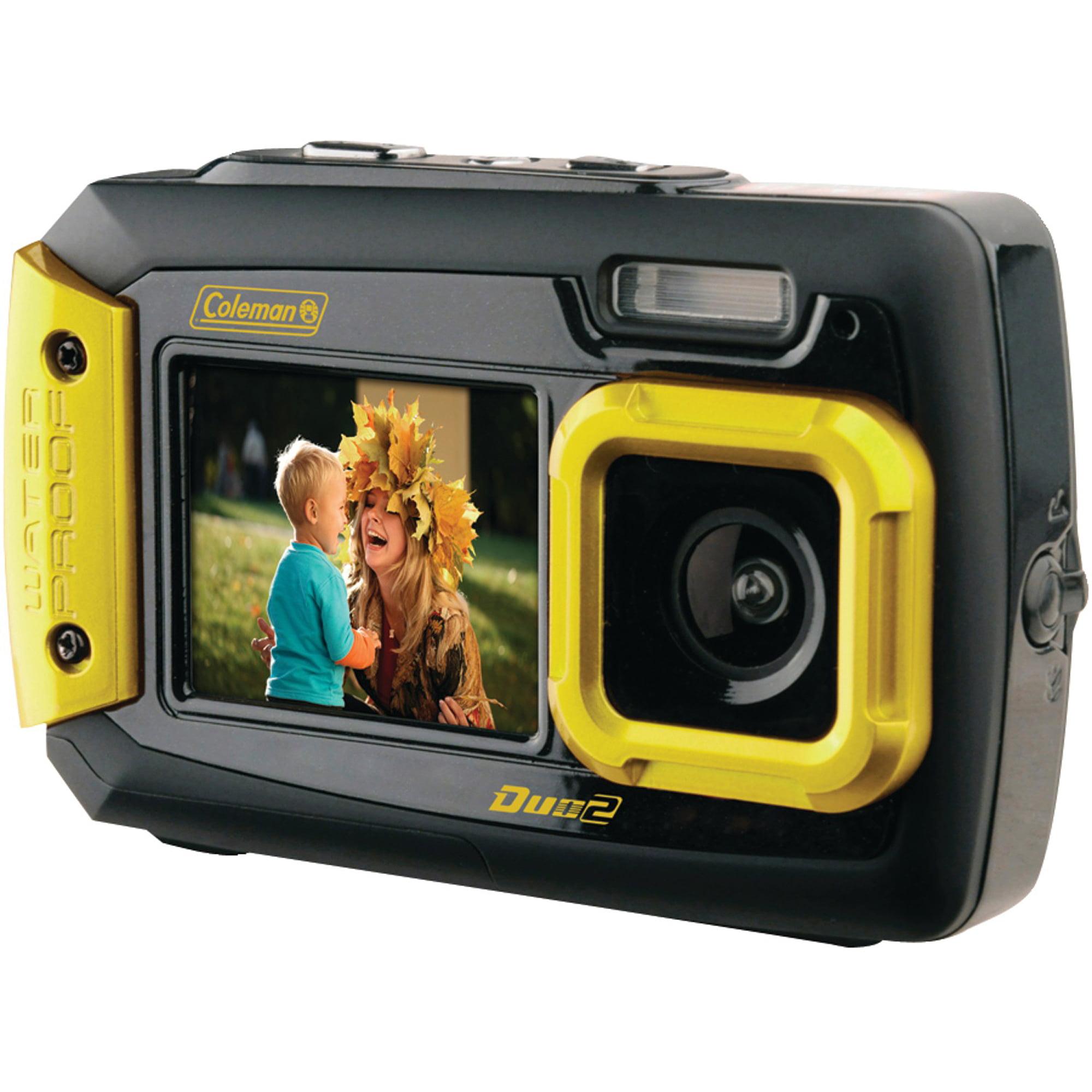Coleman 2V9WP-Y Duo2 Dual-Screen Waterproof Digital Camer...