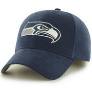 Men's Fan Favorite Navy Seattle Seahawks Mass Basic Adjustable Hat - OSFA