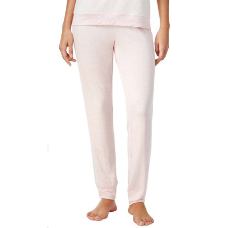 Alfani Intimates Womens Shell Pink Lacy Jacquard Trimmed Pajama Pants
