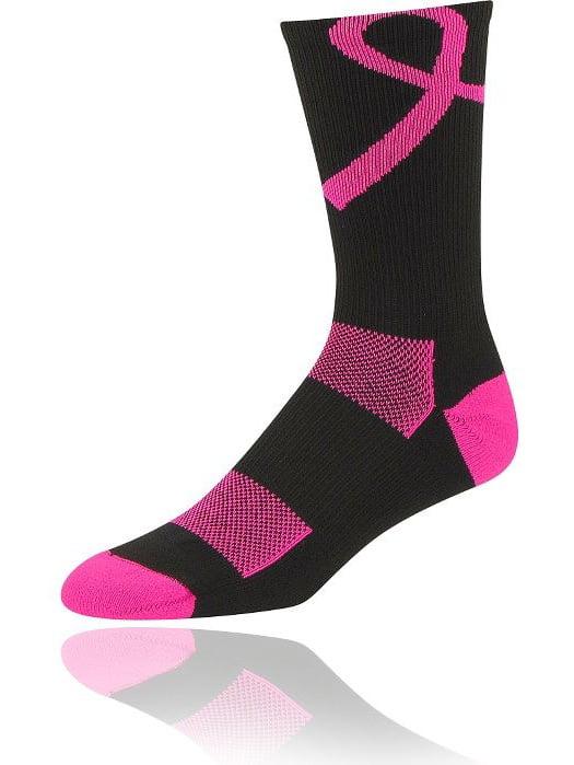 Twin City Breast Cancer Polypro Crew Socks