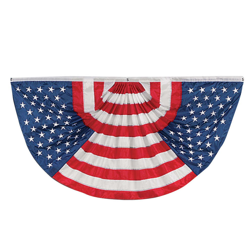 American Flag Oversized Bunting Porch Banner Decoration for Memorial Day, 4th of July