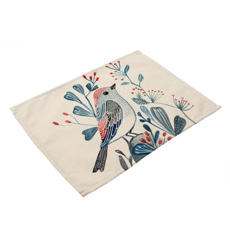 1PC Bowl Fork Placemat Mat Decoration Home Party Christmas Dining Table Mats Plate Tea Heat-Resistant ()