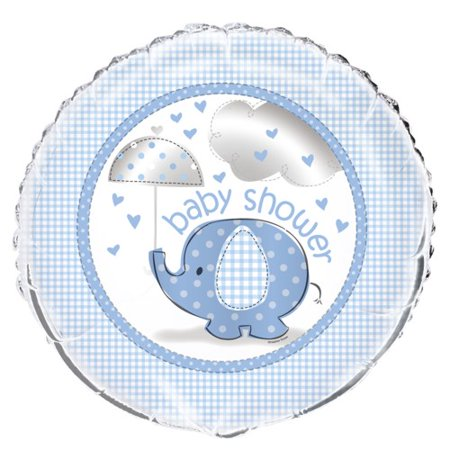 Blue Elephant Baby Shower 18 inch Foil Balloon (Elephant Balloons Baby Shower)