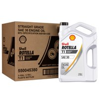 Shell Rotella T1, SAE 30 Heavy Duty Diesel Engine Oil, 1-gallon, (3-pack)