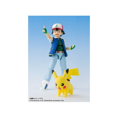 Bandai S.H. Figuarts Pokemon Ash Ketchum / Satoshi Action Figure - Ash Ketchum Spirit Halloween