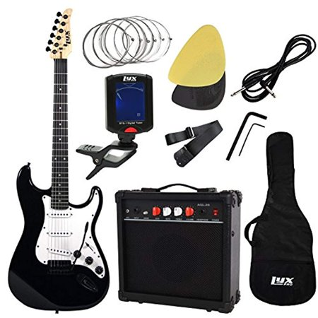 Non Tremolo Guitar (LyxPro Complete Beginner Starter kit Pack Full Size Electric Guitar with 20w Amp, Package Includes All Accessories, Digital Tuner, Strings, Picks, Tremolo Bar, Shoulder Strap, and Case Bag)