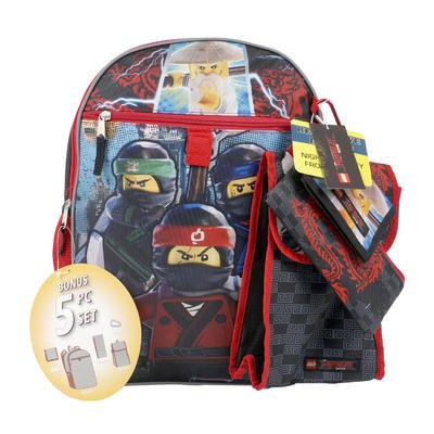 Chase Backpack - Lego Ninjago 5pc 16in Backpack comes with a utility case, a water bottle, a snack tote, and a carbiner