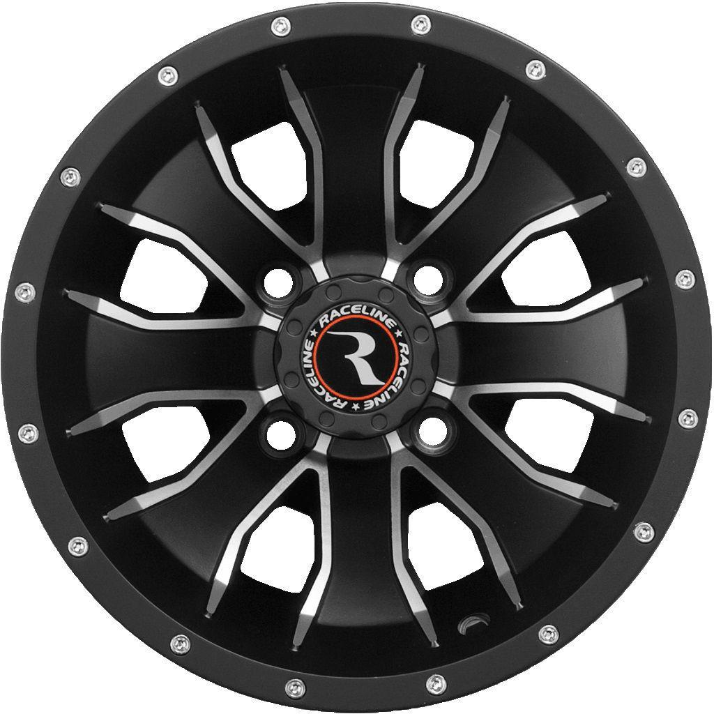 Raceline Mamba ATV Wheel - Black [12x7] 4/110 - (5+2) [570-1501]