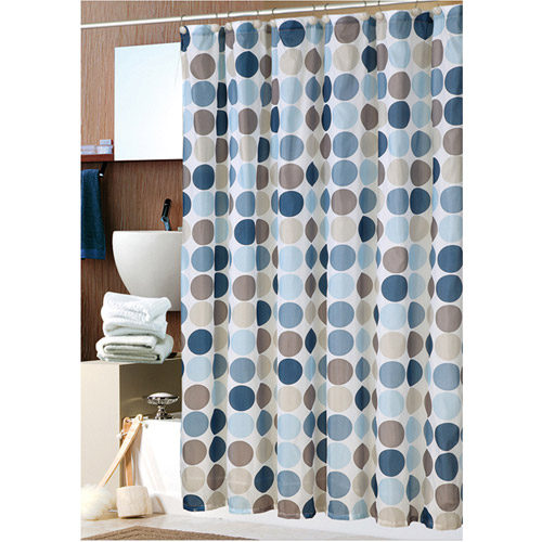 Mainstays 13pc Fabric Shower Curtain and Decorative Hooks Set Collection by Generic