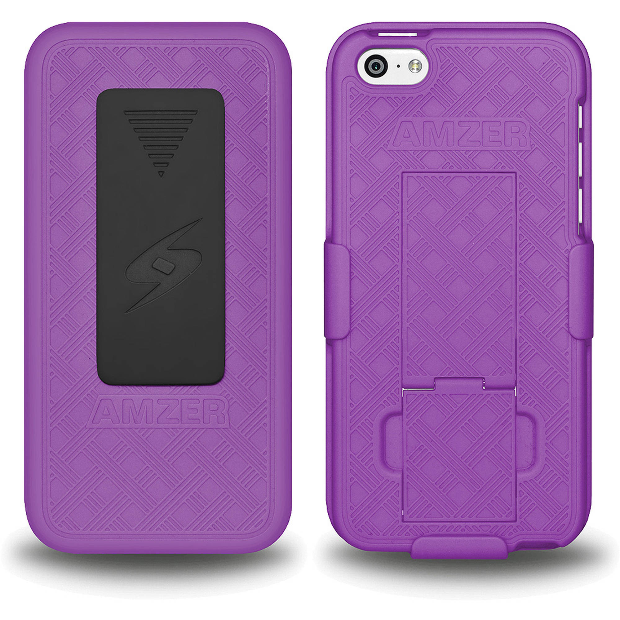 AMZER Shellster Case with Kickstand, Purple