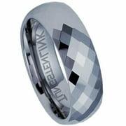 AAB Style RTS-27 Beautiful Diamond Cut Tungsten Carbide Ring