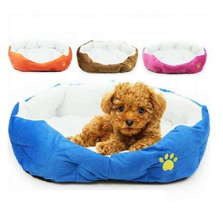 Zimtown Sky Blue Puppy Cat Pet Dog Soft Fleece Cozy Warm Nest Bed House Cotton Mat Size - Dog Soft Round Bed
