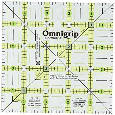 Omnigrip 5-Inch by 5-Inch Non-Slip Quilter's Ruler