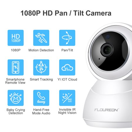 Surveillance Tracking (FLOUREON YI Cloud Home Camera, 1080P HD Wireles IP Security Camera Pan/Tilt/Zoom Indoor Surveillance System with Smart Tracking Night Vision Two Way Audio for Baby Monitor Pet Camera Home Security US)