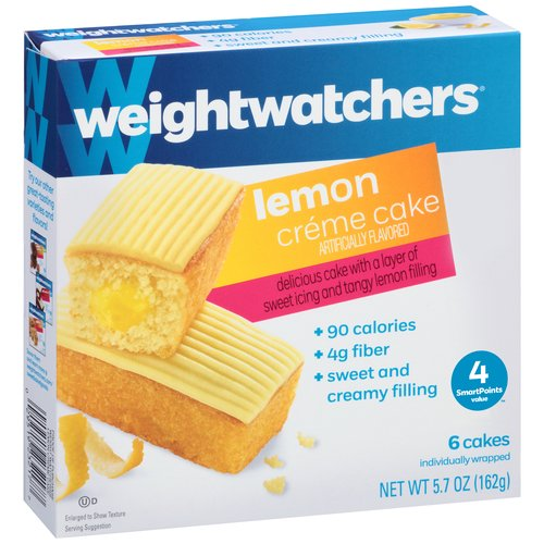 Weight Watchers Lemon Creme Cakes, 0.95 oz, 6 count