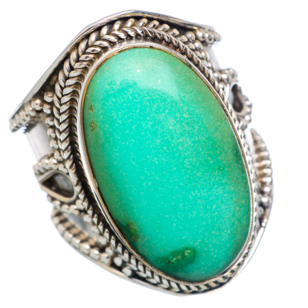 Ana Silver Co Chrysoprase 925 Sterling Silver Ring Size 6.75 Handmade Jewelry RING851189 by Ana Silver Co.
