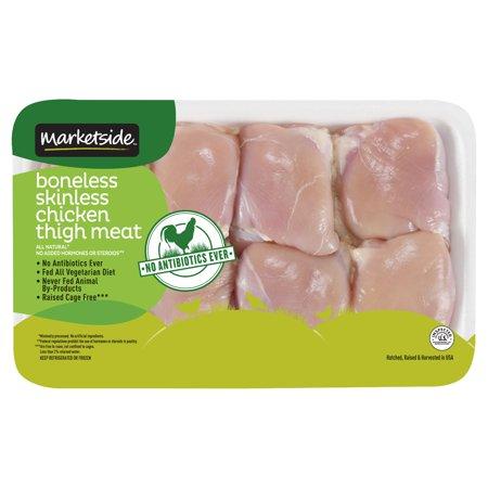 Marketside Antibiotic-Free Boneless Skinless Chicken Thigh