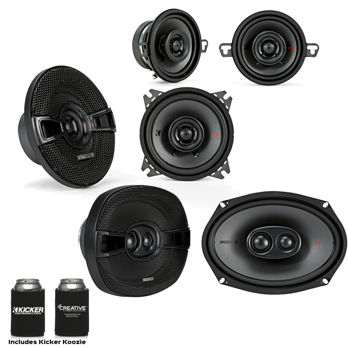 "Kicker for Dodge Ram 2002-2011 speaker bundle - 2017 Model KS 6x9"" speakers, KS 5.25"" speakers & KS 3.5"" Speakers."