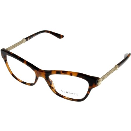 Versace Prescription Eyeswear Frames Womens Cat Eye Havana VE3214 944 Size: Lens/ Bridge/ Temple:52- 16- 140-