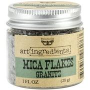 Finnabair Art Ingredients Mica Flakes 1oz-Granite