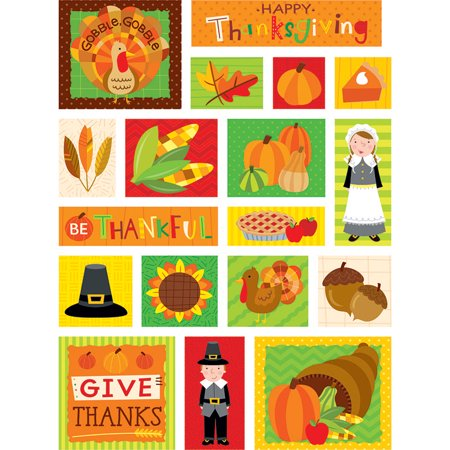 THANKSGIVING FUN STICKERS (Simple Thanksgiving Crafts)