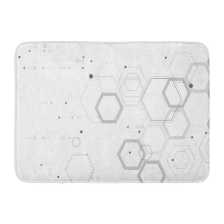 KDAGR Hexagon Abstract Hexagonal Structures in Technology and Science Pattern Doormat Floor Rug Bath Mat 23.6x15.7 inch