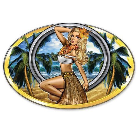 Sexy Hula Girl Hawaii - Vinyl Sticker Waterproof Decal Sticker 5