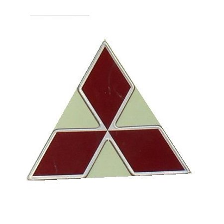 Genuine Mitsubishi Triple Diamond Emblem RED Front MB814979 3000GT 1991 1992 1993 1994 1995 1996 1997 1998 by Mitsubishi - Mitsubishi 3000gt Vr4 Twin Turbo