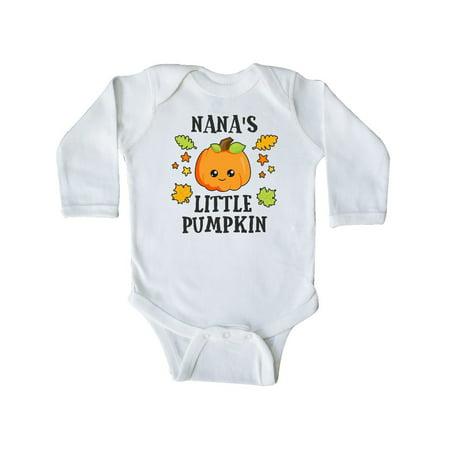 Nanas Little Pumpkin with Leaves and Stars Long Sleeve (Nana Little Star Snap)