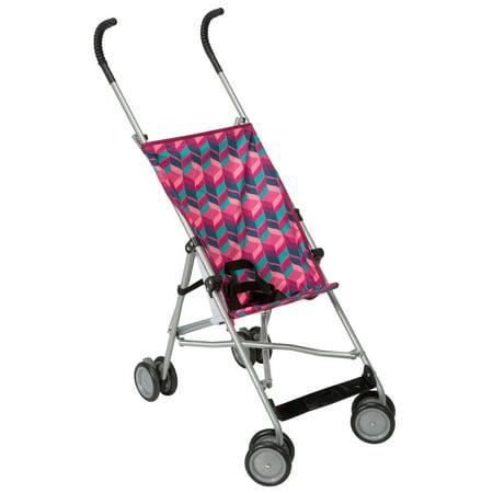 cea2093f8a80 Cosco Comfort Height Lightweight Umbrella Stroller, Pink Diamond