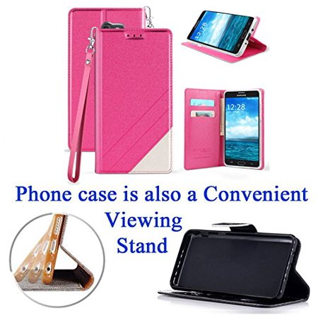 34768cc1e67 for Samsung Galaxy J7 Prime On Nxt On7 Prime Case Phone Case Hybrid Fold  Wallet Kick Stand Pouch Pocket Purse Screen Flip Cover Pink - Walmart.com