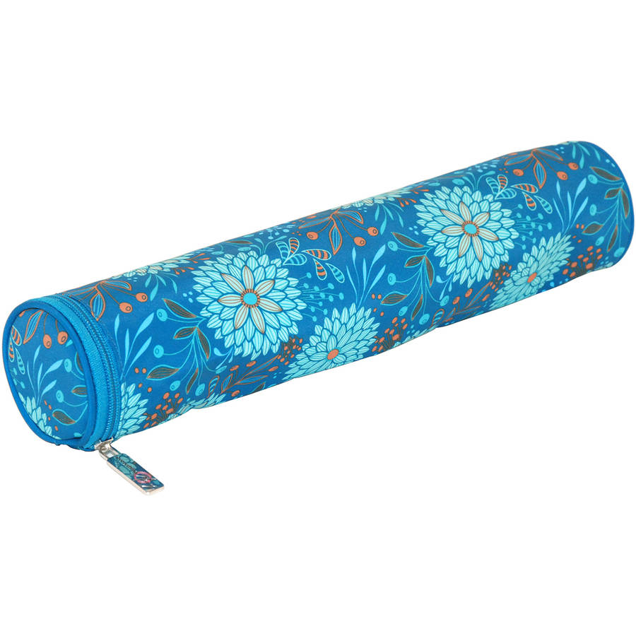 "Everything Mary Teal Floral Needle Case 16""X3""X3""-"