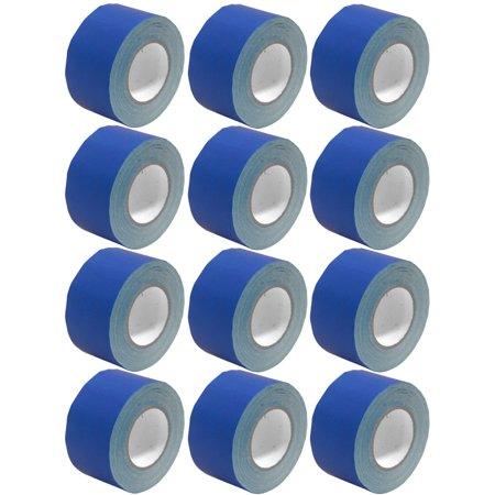 Seismic Audio 12 Pack of Gaffer's Tape - Blue 3 inch Roll 60 Yards per Roll Gaffers Tape - SeismicTape-Blue603-12Pack