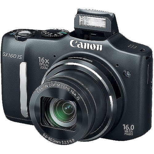 Canon Black PowerShot SX160 IS 16MP 16x Optical Zoom Digital Camera