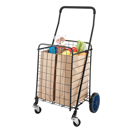 mainstays deluxe rolling shopping cart