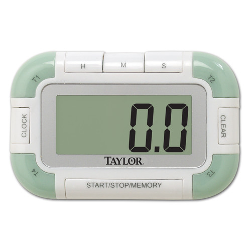 Taylor Precision Products 4 Event Digital Kitchen Household Timer & Clock 5862