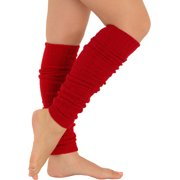 Womens Leg Warmers Wool Cashmere Blend Knit Purple Red Gray Black or Khaki