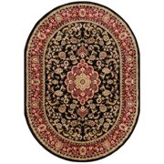"Well Woven Barclay Medallion Traditional Ivory 5'3"" x 6'10"" Oval Area Rug"