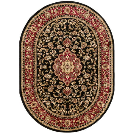 Well Woven Barclay Medallion Kashan Traditional Persian Black 6