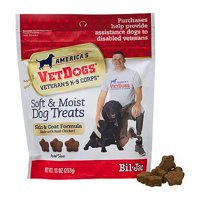 (2 Pack) American VetDogs Veteran's K-9 Corps Dog Treats, 10 oz