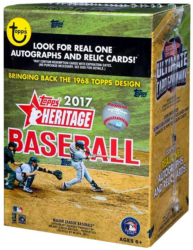 MLB 2017 Topps Heritage Baseball Cards 2017 Topps Heritage Trading Card Blaster Box by