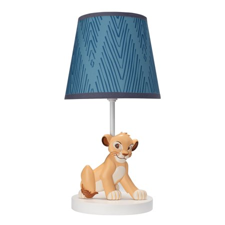 Disney Baby Lion King Adventure Lamp with Shade & Bulb by Lambs & Ivy - Blue (Sacramento Kings Lamp)