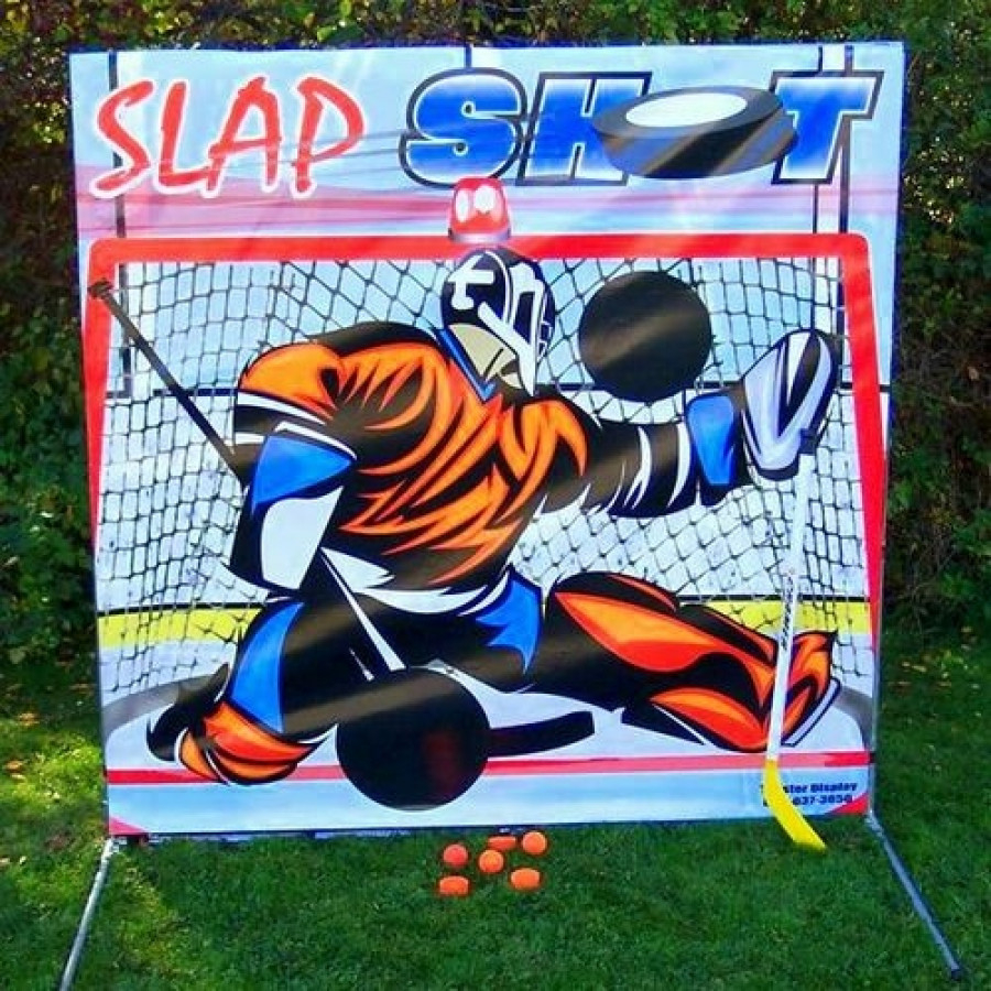 Slap Shot Hockey Interactive Frame Game for Carnivals, Fairs, Festivals, Fundraisers, School and Church Events by Pogo Bounce House